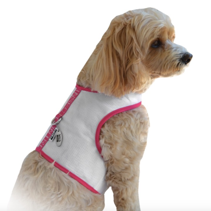 Whitened Ruby Vest White and Pink
